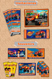 Kit Imprimible Blaze And The Monster Machines Personalizado