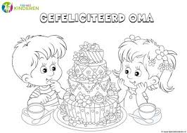 Kleurplaat Verjaardag Oma Png 1279 913 Met Afbeeldingen