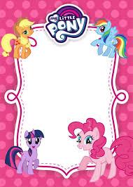 My Little Pony Birthday Invitation Template Equestria Edition En