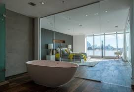 glass partition and shower enclosure