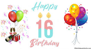 16th Birthday Messages Wishes Sms Birthdaywishes2u