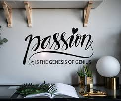 Vinyl Wall Decal Letter Passion Genesis Genius Stickers 28 5 In X 15 In Gz055 Ebay
