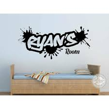 Personalised Graffiti Wall Stickers Boy Girls Bedroom Playroom Wall Art Sticker Decor Decals