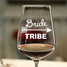 8pcs Diy Wedding Party Favor Bride Squad Or Bride Tribe Stickers Vinyl Waterproof Removable Bridal Party Wine Glass Sticker Wall Stickers Aliexpress