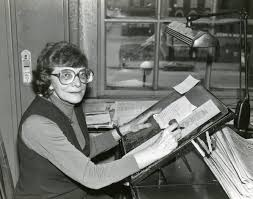 Loyola University Chicago Digital Special Collections   Mollie West at her  desk