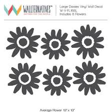 Large Daisy Flowers Vinyl Wall Decal Colorful Girls Room Decor Wallternatives