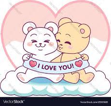 bears i love you royalty free vector image