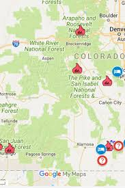 Current Colorado Fires Map