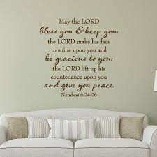 May The Lord Give You Peace Wall Quotes Decal Wallquotes Com