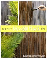 Homewardfound Decor Thrifty Weekend Makeover Part I Bamboo Fence Bamboo Garden Bamboo