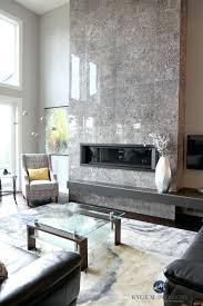 living room tall tile fireplace
