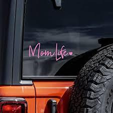 Amazon Com Mom Life Decal Vinyl Sticker Cars Trucks Vans Walls Laptop Light Pink 8 Automotive