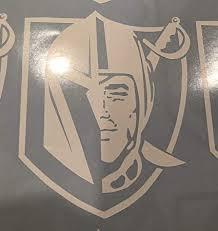 Fashionmz Las Vegas Golden Knights Sticker Decal Mix With Raiders Logo X3 White Amazon In Car Motorbike