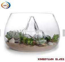 desktop round glass vases fish bowl