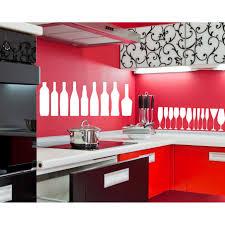 Shop A Restaurant A Cafe Kitchen Bottles Stemware Wall Art Sticker Decal White Overstock 11880597