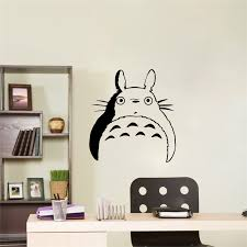 Fun Totoro Wall Stickers Creative Decal Vinyl Wallstickers For Kids Rooms Art Sticker Bedroom Totoro Wall Decals Mura Buy At The Price Of 1 96 In Aliexpress Com Imall Com