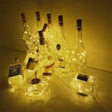 6.5ft 20 LED Rượu Đèn Nút Chai Pin Xây Dựng Trong Vòng Hoa DIY Giáng Sinh  Dây Đèn Cho Hóa Trang Halloween Trang Trí Đám Cưới 
