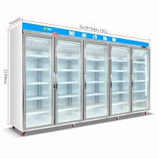 freezer used glass door upright