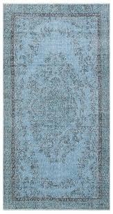 blue overdyed rug 3 57 x 6 85