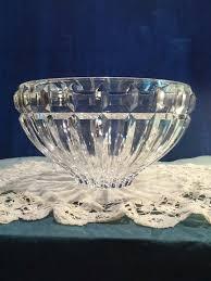 mikasa glass crystal bowl austrian lead