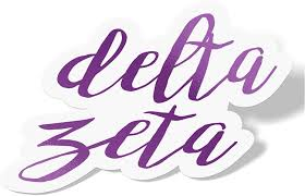 Delta Zeta Cursive Word Sticker Decal Greek For Window Laptop Computer Car Dz Violet Walmart Com Walmart Com