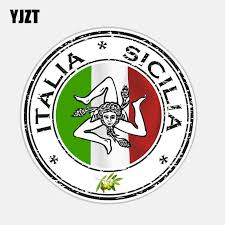 Yjzt 11 9cm 11 9cm Car Accessories Italia Sicilia Decal Pvc Window Car Sticker 6 2682 Car Stickers Aliexpress