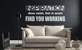 Motivational Vinyl Decal Inspiration Does Exist But It Must Find You Working Many Colors Artistic Mural Collection For Wall Decor