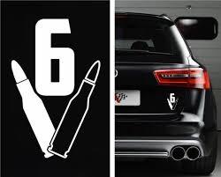 V6 Bullet Window Decal Sticker Custom Sticker Shop