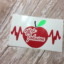 Teacher Decal Teacher Monogram Monogram Vinyl Decal Dietitian Etsy