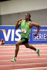 Calvin Smith in the 400m