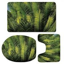 yoliyana palm tree decor bathroom rugs