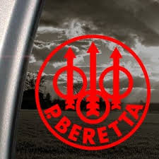 P Beretta Firearms Red Decal Car Truck Window Red Sticker Wish