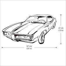 Classic Car Vinyl Wall Art Decal