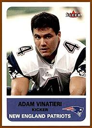 2002 Fleer Tradition #82 Adam Vinatieri KICKER NEW ENGLAND ...