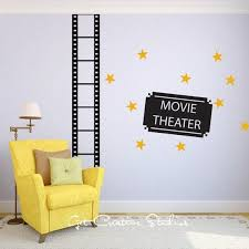 Movie Theater Decal Cinema Wall Decal Movie Theme Decal Home Etsy Home Theater Decor Wall Decals Baby Room Decals