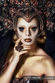 fantasy makeup and black lenses