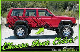 Mud Splash Graphics Decals Fits 1984 2001 Jeep Cherokee Sport Country Xj Ebay