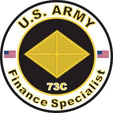 Amazon Com Military Vet Shop Magnet U S Army Mos 73c Finance Specialist Vinyl Magnet Car Fridge Locker Metal Decal 3 8 Automotive