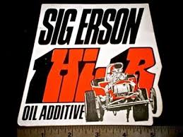 Sig Erson Oil Additive Original Vintage 1960 S 70 S Racing Decal Sticker 292337399