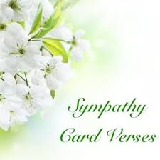 sympathy verses sympathy card messages
