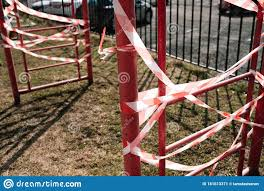An Empty Playground For Children In The Yard Fenced Territory Coronavirus Stock Image Image Of Empty Park 181613371