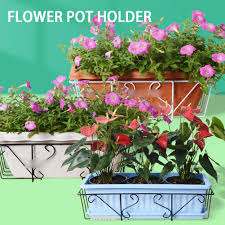 Fence Home Balcony Displaying Hanging Railing Flower Pot Holder Shopee Philippines