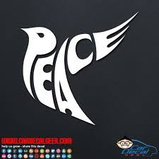 Peace Dove Car Window Decal Sticker Graphic Peace Decals