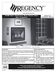 regency fireplace products p33 lp4