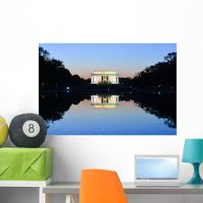 Amazon Com Wallmonkeys Washington Dc Lincoln Memorial Wall Decal Peel And Stick Graphic 36 In W X 24 In H Wm362518 Home Kitchen
