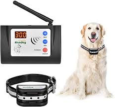 Amazon Com Richdog Wireless Fence Wireless Fence For Dogs Adjustable Range Up To 1000 Feet Led Distance Display Ip65 Waterproof Rechargeable Dog Collar Two Working Mode Electric Fence