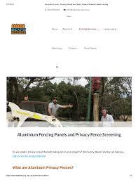 Aluminium Fence Fencing Panels And Slats Privacy Screens Bears