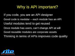 designing good api its importance