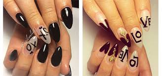 cool notes nail art designs