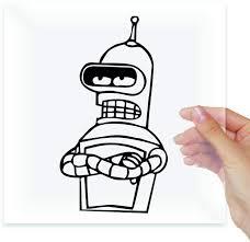 Amazon Com A Design World Robot Bender Futurama Vinyl Stickers Decals Laptop Macbook Moto Car Auto Tablet Home Kitchen